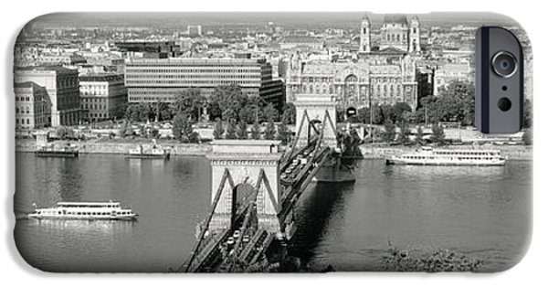 Land Vehicle iPhone Cases - Chain Bridge Over The Danube River iPhone Case by Panoramic Images