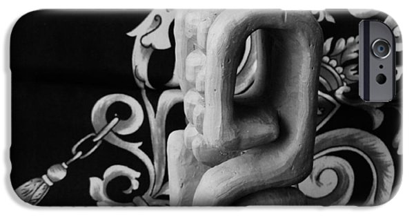 Love Sculptures iPhone Cases - Chained Together iPhone Case by Barbara St Jean