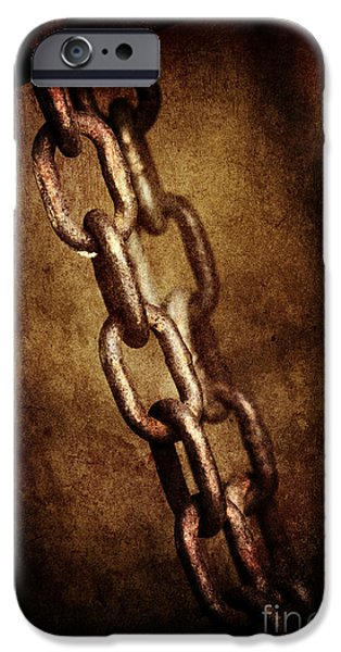 Industry Pyrography iPhone Cases - Chains iPhone Case by Jelena Jovanovic