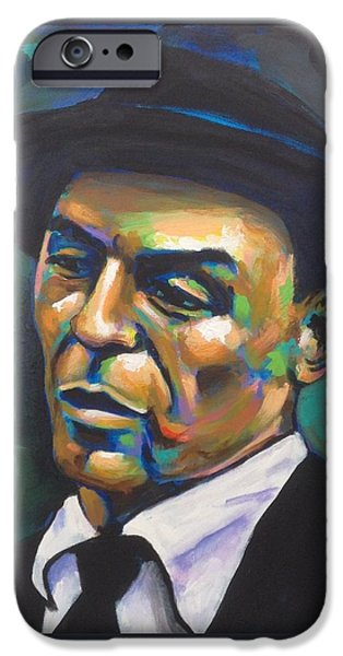 Frank Sinatra Paintings iPhone Cases - Chairman of the Board iPhone Case by Stuart Glazer