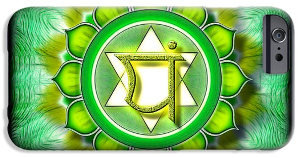 Energize iPhone Cases - Chakra Anahata Series 2010 iPhone Case by Dirk Czarnota