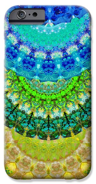 Wisdom iPhone Cases - Chakra Mandala Healing Art by Sharon Cummings iPhone Case by Sharon Cummings