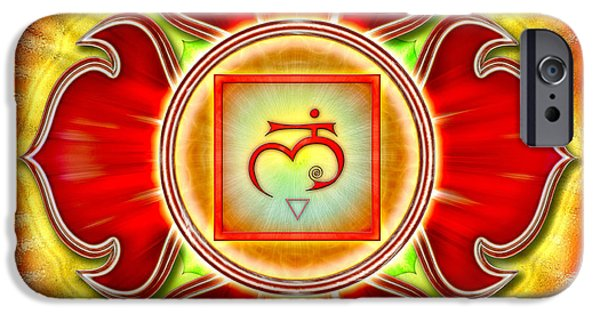 Energize iPhone Cases - Chakra Muladhara Series 2012 iPhone Case by Dirk Czarnota