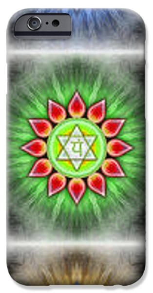 Kundalini iPhone Cases - Chakras Banner Series IV iPhone Case by Dirk Czarnota
