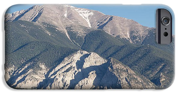 Arkansas iPhone Cases - Chalk Cliffs of Mt. Princeton iPhone Case by Aaron Spong