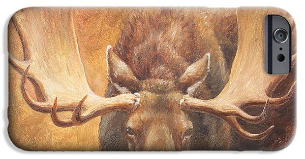 Bull Moose iPhone Cases - Bull Moose - Challenge iPhone Case by Crista Forest