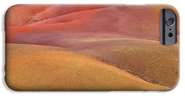 Sand Dunes Pyrography iPhone Cases - Chamarel garden iPhone Case by Gilles Lougassi