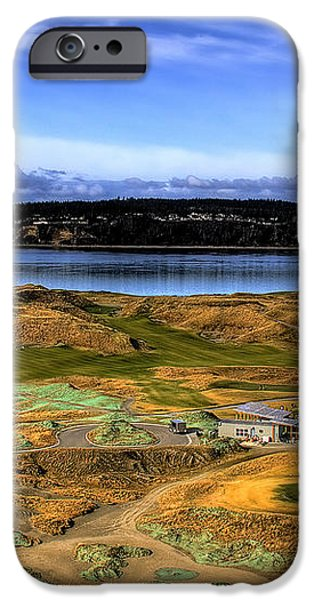 Chambers Bay Golf Course iPhone Case by David Patterson