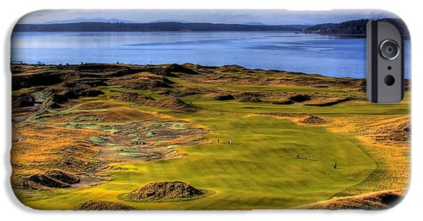 Us Open iPhone Cases - Chambers Bay Golf Course II iPhone Case by David Patterson