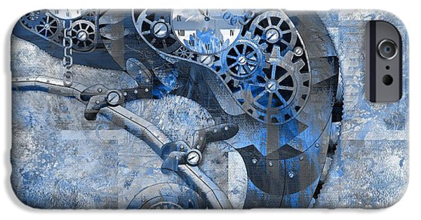 Chameleon iPhone Cases - Chameleon - Blue 01b02 iPhone Case by Variance Collections