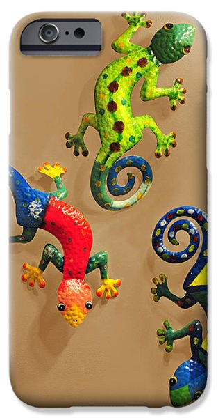 Chameleon iPhone Cases - Chameleons iPhone Case by Edwin Verin