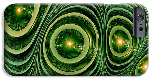 Fractal Orbs iPhone Cases - Chameleons skin iPhone Case by Martin Capek