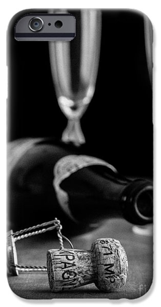 Isolated iPhone Cases - Champagne Bottle Still Life iPhone Case by Edward Fielding