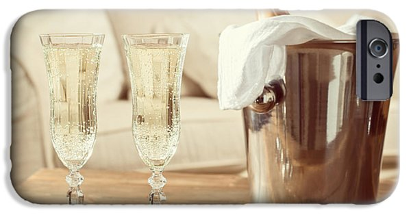 Couch iPhone Cases - Champagne Celebration iPhone Case by Amanda And Christopher Elwell