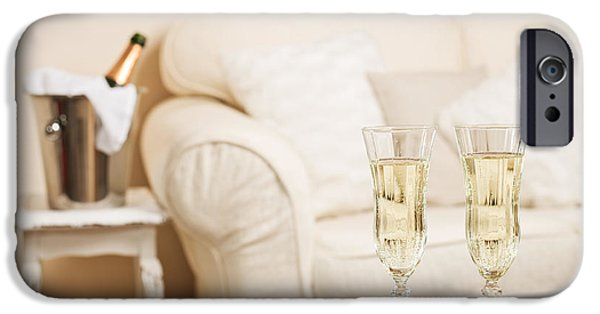 Bubbly iPhone Cases - Champagne iPhone Case by Amanda And Christopher Elwell