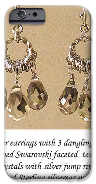 Torn Jewelry iPhone Cases - Champagne Danglers iPhone Case by Jennie Breeze