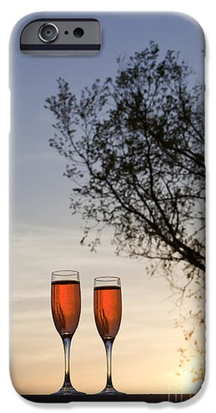 Kaypickens.com iPhone Cases - Champagne for Two iPhone Case by Kay Pickens