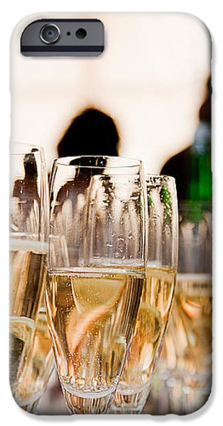 Champagne glasses at the party iPhone Case by Michal Bednarek