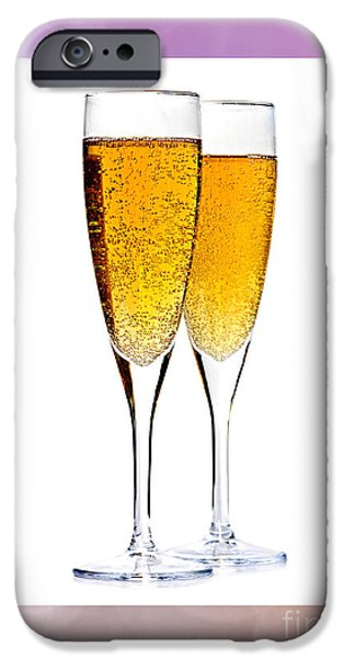 Champagne in glasses iPhone Case by Elena Elisseeva
