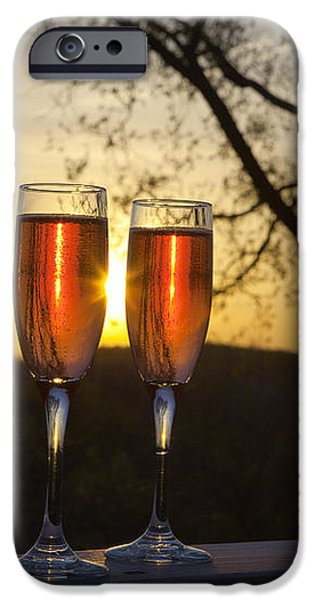 Champagne Sunset iPhone Case by Kay Pickens