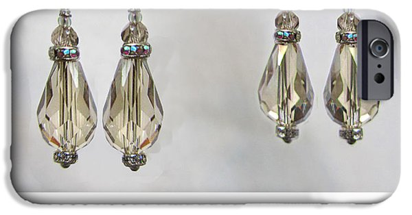 Torn Jewelry iPhone Cases - Champagne Tear Drop iPhone Case by Jennie Breeze