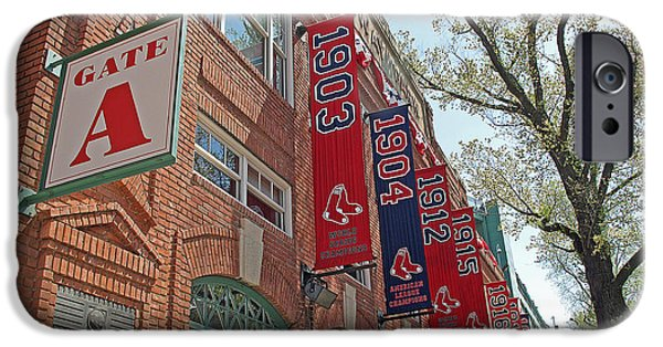 Fenway Park iPhone Cases - Championship Banners iPhone Case by Barbara McDevitt