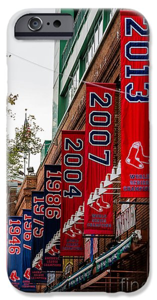 Fenway Park iPhone Cases - Champs Again iPhone Case by Mike Ste Marie