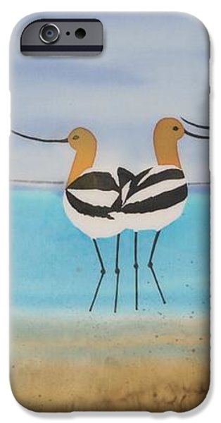 Chance encounter at the beach iPhone Case by Carolyn Doe