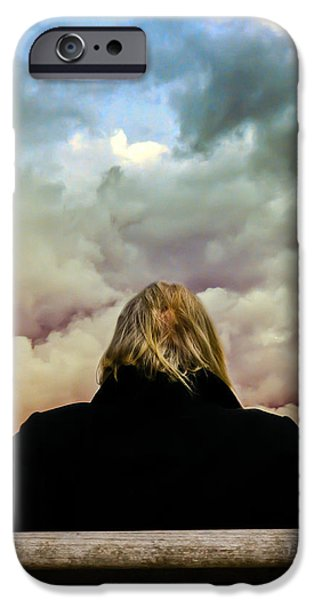 Chance of Rain First Panel  No Umbrella iPhone Case by Bob Orsillo