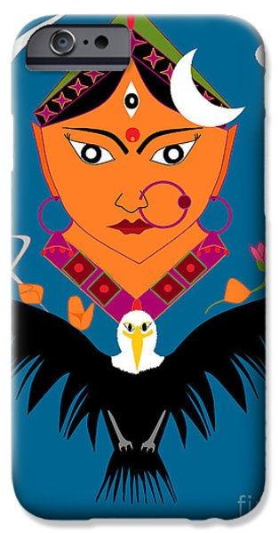 Disc iPhone Cases - Chandraghanta iPhone Case by Pratyasha Nithin
