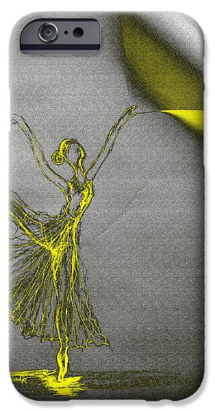 Ballet Dancers iPhone Cases - Change A Pose iPhone Case by Sladjana Lazarevic