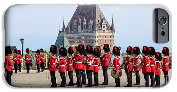 Brigade iPhone Cases - Changing of the Guard The Citadel Quebec City iPhone Case by Edward Fielding