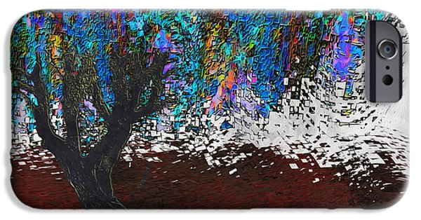 Virtual Digital iPhone Cases - Changing Tree iPhone Case by Jack Zulli