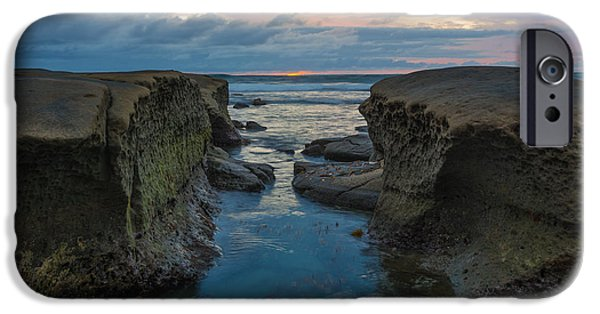Ocean Sunset iPhone Cases - Channel Light iPhone Case by Joseph Smith