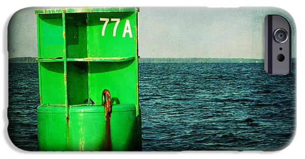 Charters iPhone Cases - Channel Marker 77A iPhone Case by Rebecca Sherman