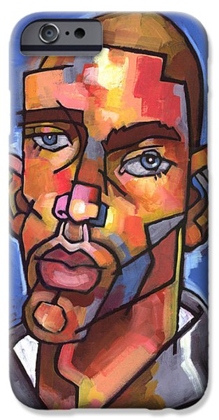 Figures Paintings iPhone Cases - Channing iPhone Case by Douglas Simonson