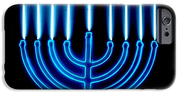 Chanukah iPhone Cases - Chanukah Menorah iPhone Case by Pacifico  Palumbo