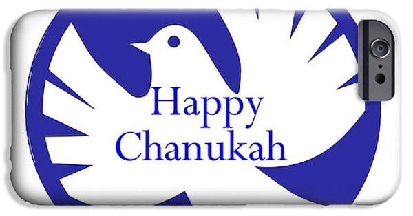 Chanukah iPhone Cases - Chanukah Peace Dove iPhone Case by Florene Welebny