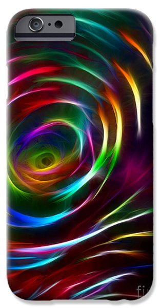 Modern Abstract iPhone Cases - Chaos Digital iPhone Case by Melinda Firestone-White