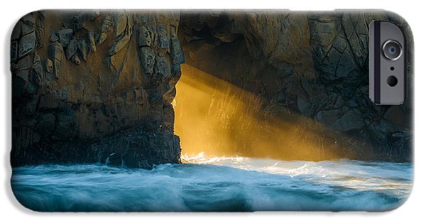 Ocean Sunset iPhone Cases - Chaos - Pfeiffer Beach iPhone Case by George Buxbaum