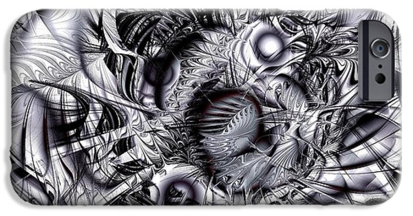 Disorder iPhone Cases - Chaotic Space iPhone Case by Anastasiya Malakhova