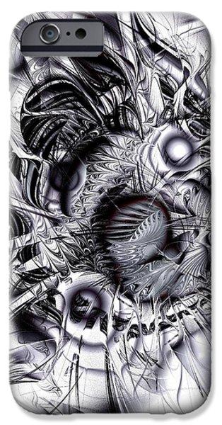 Chaotic Space iPhone Case by Anastasiya Malakhova