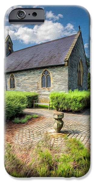 Walkway Digital iPhone Cases - Chapel 17th Century  iPhone Case by Adrian Evans