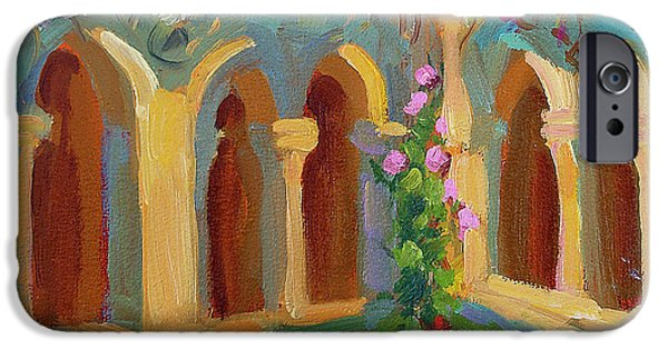 Chapels iPhone Cases - Chapel at St. Remy iPhone Case by Diane McClary