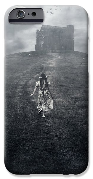 Escape iPhone Cases - Chapel In Mist iPhone Case by Joana Kruse