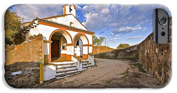 Wedding Bells iPhone Cases - Chapel of Castelo de Vide iPhone Case by David Letts
