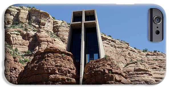 Oak Creek iPhone Cases - Chapel of the Holy Cross iPhone Case by David Gordon