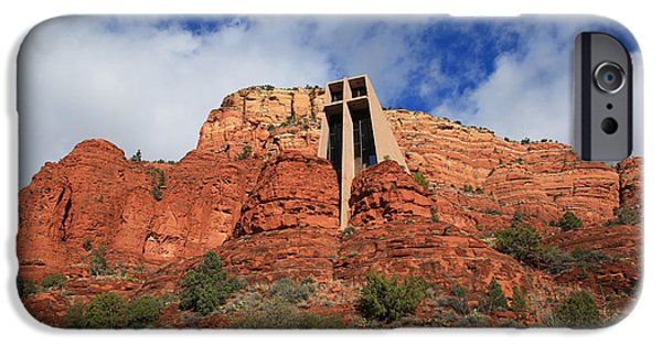 Sedona iPhone Cases - Chapel of the Holy Cross iPhone Case by Donna Kennedy