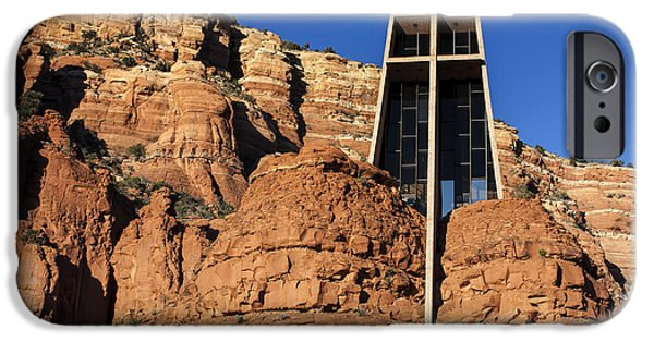Red Rock iPhone Cases - Chapel of the Holy Cross iPhone Case by Fred Larson