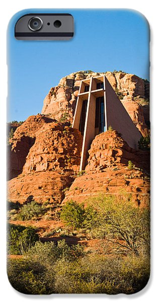 Sedona iPhone Cases - Chapel of the Holy Cross Sedona Arizona 100 iPhone Case by Douglas Barnett